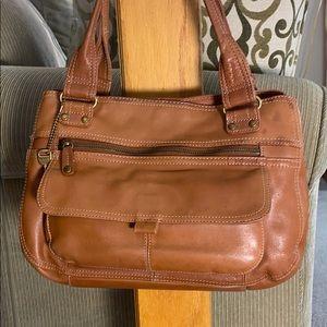 💕🗝Fossil tan leather vintage beautiful bag 🗝💕